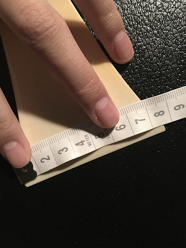 Ignore that the ruler is facing the wrong way